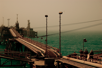 US military security personnel on the Al Basrah Oil Terminal after its capture