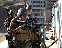 Students conduct CQB drills during SEAL Qualification Training.