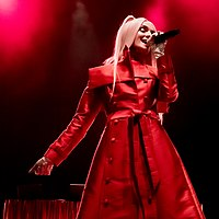 Poppy performing at The Wiltern during her Am I a Girl? Tour