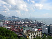 Hong Kong is one of the world's busiest container ports.