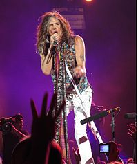 Tyler performing with Aerosmith in July 2012