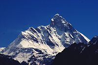 With the elevation of 7816 m above sea level, Nanda Devi is the highest mountain in Uttarakhand and the second-highest mountain in India, following Kangchenjunga in Sikkim.