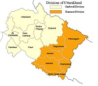 Divisions and Districts of Uttarakhand