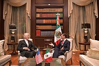 Meeting with the former president of the United States of America Bill Clinton at Los Pinos