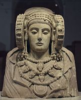 The Lady of Elche, an iconic item exhibited at the National Archaeological Museum