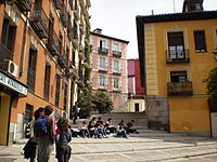 Madrid de los Austrias. It is the part of Madrid with the most number of buildings of the Habsburg-period.
