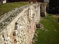 A section of the Muslim Walls of Madrid. For a list of all the walls, see: Walls of Madrid.