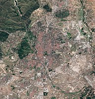 Madrid as seen by the Sentinel-2 satellite in October 2020