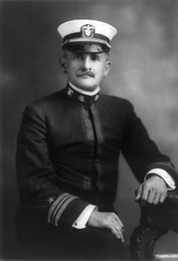 Lt. Cmdr. Albert A. Michelson while serving in the U.S. Navy. He rejoined the U.S. Navy in World War I, when this portrait was taken.