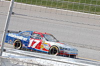 Number 17 Sprint Cup Series car sporting Valvoline colors
