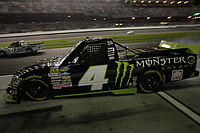 Ricky Carmichael pulling out of pit road at Daytona in 2011.