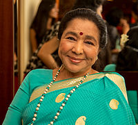 Asha Bhosle is an Indian singer best known as a playback singer in Hindi cinema. In 2011, she was officially acknowledged by the Guinness Book of World Records as the most recorded artist in music history.