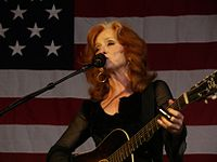Bonnie Raitt is an American singer, guitar player and piano player. A winner of ten Grammy awards, she is also noted for her slide guitar playing.