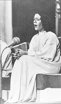 Fātemeh Vā'ezi (born 1950), commonly known by her stage name Parīsā, is a Persian classical vocalist and musician.