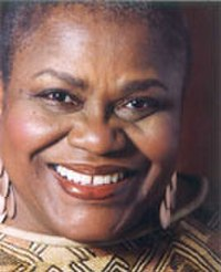 Bernice Johnson Reagon (born 1942) is a singer, composer, scholar, and social activist, who founded the a cappella ensemble Sweet Honey in the Rock in 1973. She was an important figure in the womyn's music scene.