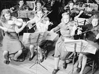 The Montreal Women's Symphony Orchestra in 1942