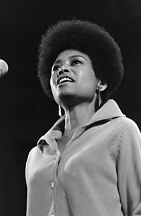 Abbey Lincoln (1930–2010), was an American jazz vocalist, songwriter, and actress, who wrote and performed her own compositions. She was a civil rights advocate during the 1960s.