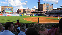 Looking onto Fifth Third Field