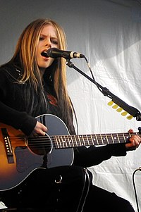 Canadian Avril Lavigne was the biggest breakthrough of the 2000s worldwide with 40 million albums sold.
