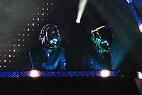 The French electronic music duo Daft Punk became one of the biggest European Electronic music acts of the decade.