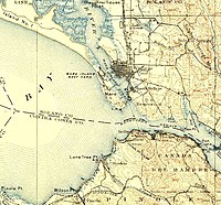 Map of Vallejo and the Carquinez Strait; 1902.