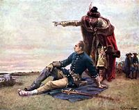 Charles XII and Mazepa at Dnieper River after the Battle of Poltava