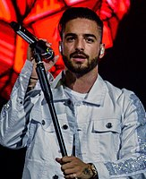 Maluma (pictured) has cited Martin as his idol and biggest influence.