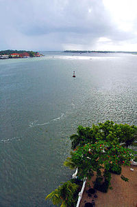 A view of the Kochi harbour mouth from Willingdon Island