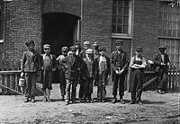 Group of workers in the Sagamore Mfg. Co., August 1911. Photographed by Lewis Hine.