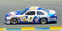 Marcos Ambrose in the No. 47 during the 2010 Toyota/Save Mart 350