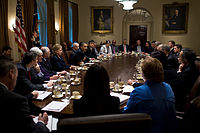 Obama meets with the Cabinet of the United States, November 23, 2009.