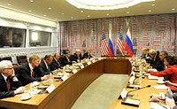 President Obama meets with Russian President Vladimir Putin to discuss Syria and ISIS, September 29, 2015.