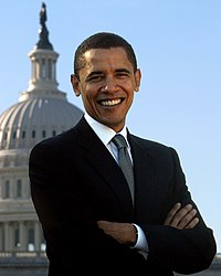 Official portrait of Obama as a member of the United States Senate