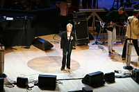 Smith on stage at the Grand Ole Opry