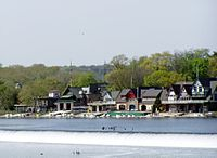 Boathouse Row on the Schuylkill River, an enduring symbol of Philadelphia's rich rowing history