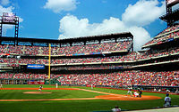 Citizens Bank Park, home of the Philadelphia Phillies, the oldest continuous, one-name, one-city franchise in all of professional American sports, dating back to 1883.