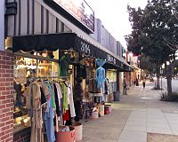 Vintage clothing shops in the Magnolia Park area of Burbank.