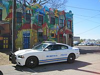 A Memphis Police Department vehicle