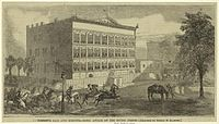 Attack on Irving Block by General Forrest in 1864