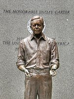 James Earl Carter Presidential Statue by Frederick Hart (1994)