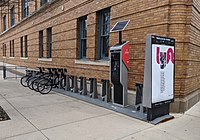 CoGo bikeshare station in the Arena District
