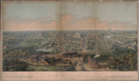 View of the city from Capital University in 1854