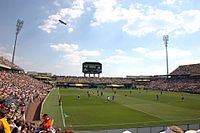 Mapfre Stadium, the first soccer-specific stadium in the U.S., and home to Columbus Crew SC