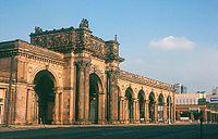 Arcade of the third Union Station, the city's rail station from 1897 to 1977