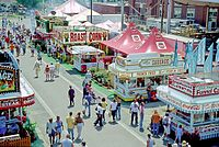 The Ohio State Fair is held in late July to early August.