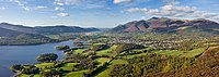 Skiddaw massif, seen from Walla Crag in the Lake District