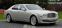 The Bentley Mulsanne. Bentley is a well-known English car company.