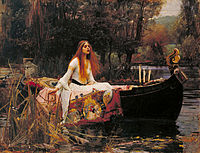 The Lady of Shalott by John William Waterhouse, 1888, in the Pre-Raphaelite style