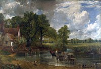 The Hay Wain by John Constable, 1821, is an archetypal English painting.