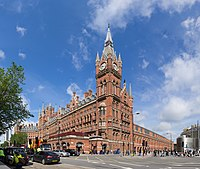 St Pancras station, a fine example of Victorian railway engineering